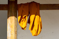 Yunnan - Monk's Robes at the Octagonal Pavilion Temple (景真八角亭)