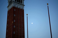 Dawn Moon in St. Mark's Square