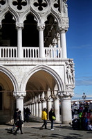 Visitors by the Doge's Palace