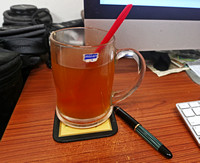 Honey-Lemon Tea with Cinnamon and a Vintage Pelikan 140