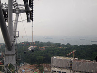 Singapore - Cableway to Sentosa Island